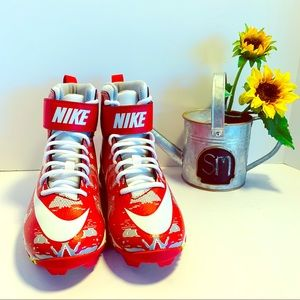 NEW!!  Nike football/lacrosse cleats Red/white